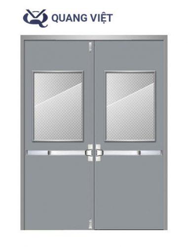 Thanh thoát hiểm Neo Inox đôi cho cửa hai cánh ( cửa đôi )